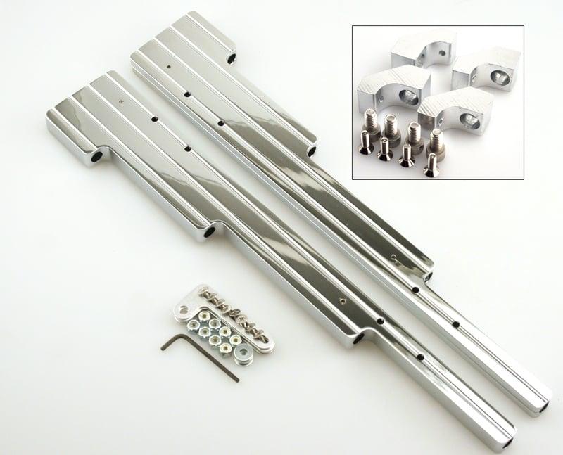 Chrome Spark Plug Wire Loom For Center Bolt Chevy