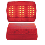 64- 1/2 - 66 Mustang LED tail lights w/stainless trim