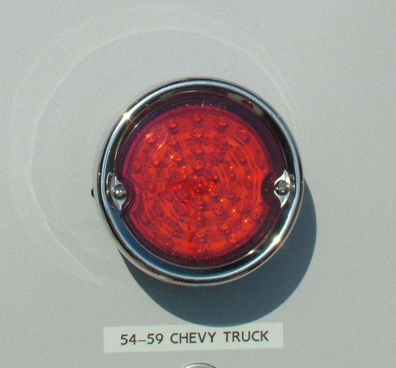 1955 59 Chevy Truck Led Tail Lights With Stainless Bezel