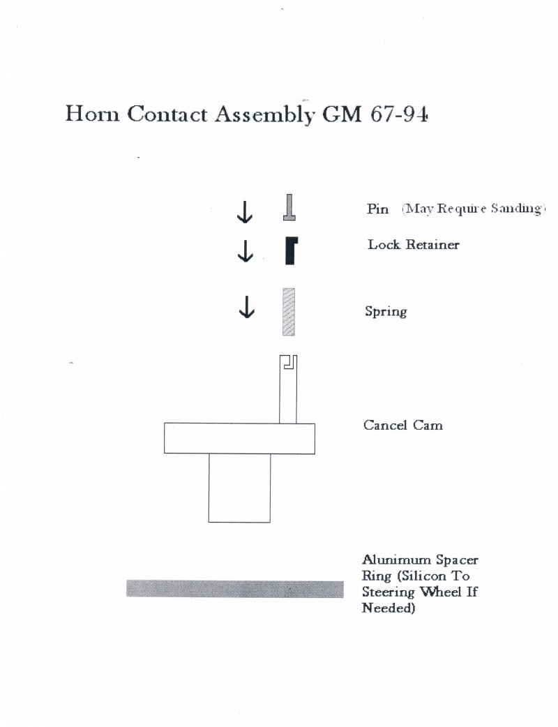 Instructions Starting Circuit Diagram For The 1952 Oldsmobile All Models Impala Wheel Horn Installation Gm 67 94
