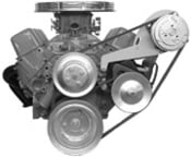 A.C. Compressor MOUNT 119L Small Block Chevy - Long Water Pump Driver's Side - Low Profile