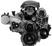 140R A.C Mount. GM LS Series Truck Motor.