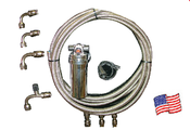 Aeroquip Braided Stainless A/C Hose Kit