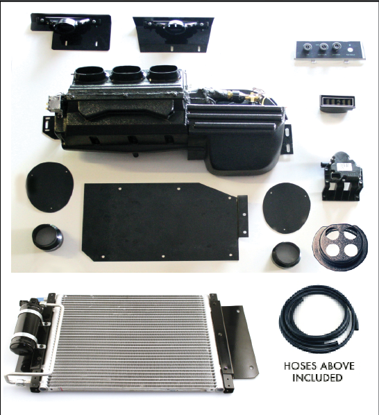 Direct Fit 67 68 Camaro A C Heat Amp Defrost Complete Kit