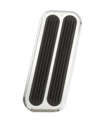Camaro Billet Gas Pad with Rubber Insert