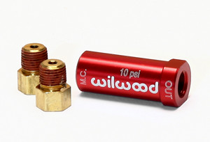Wilwood 10lb residual valve with fittings