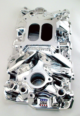 Edelbrock Endurashine Chrome Chevy Intake Manifold