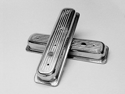 Ball milled Polished Valve Covers Short SBC