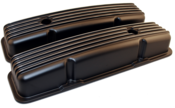 SB Chevy 283-400 Black Aluminum Valve Covers
