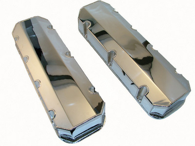 Chrome Fabricated Valve Covers for Big Block Chevy