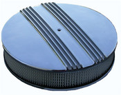 "14"" Round Cast Old School Air Cleaner 3"" filter"