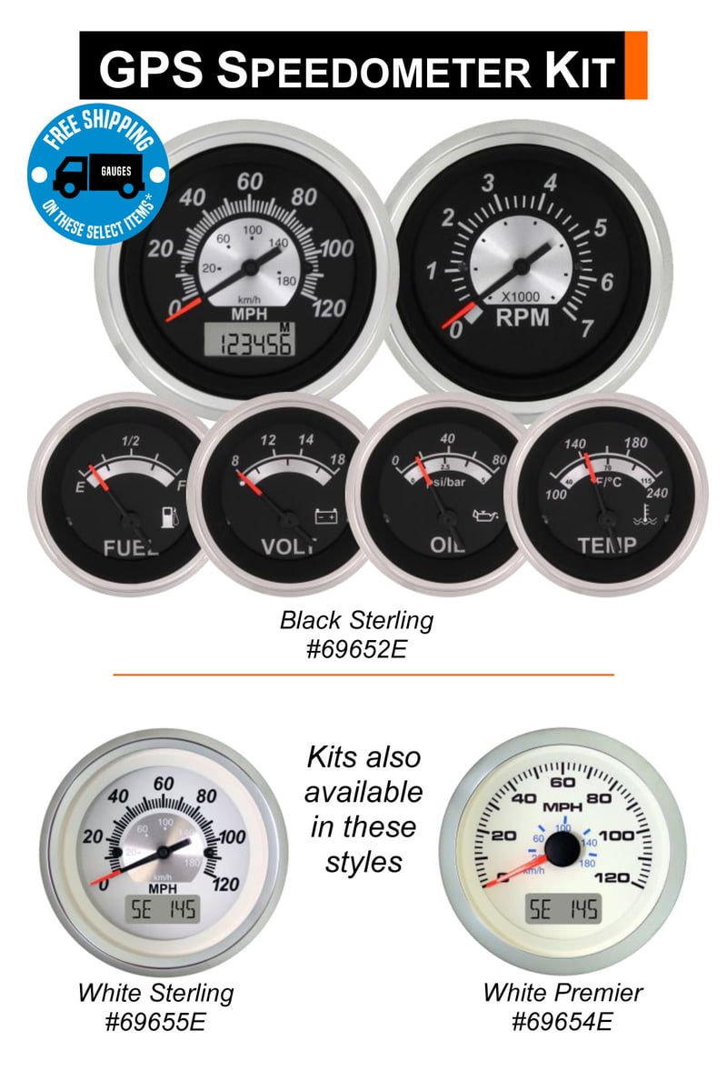5 Or 6 Gauge Gps Speedometer Kit