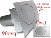 90 Series Oval Quarter Panel Fuel Door