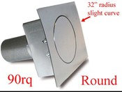 90 Series Round Quarter Panel Fuel Door