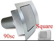 90 Series Square Curved Fuel Door