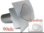 90 Series Teardrop Curved Fuel Door