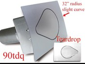 90 Series Teardrop Quarter Panel Fuel Door