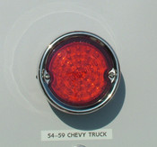 1955-59 chevy truck LED tail lights with stainless bezel