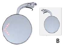 Peep mirrors with LED turn signal