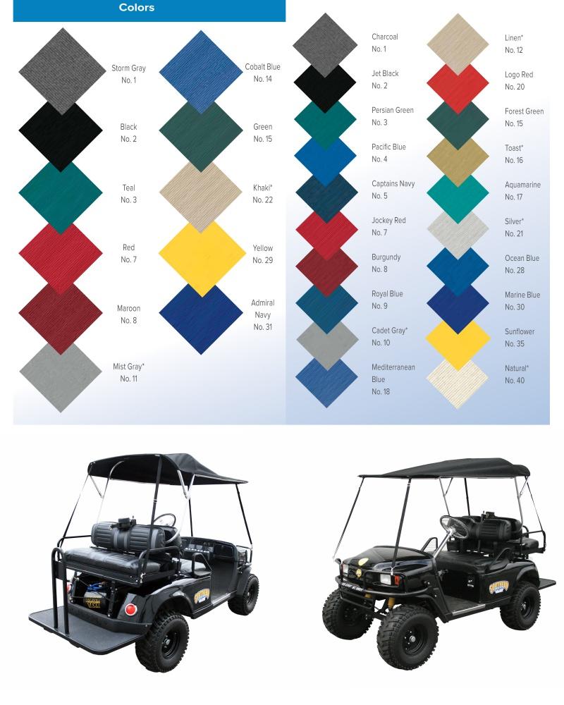 Folding Golf Cart Top