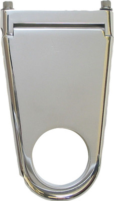 "Column Drop, Blank Style, 1-3/4"" Column X 2"" Drop, Polished Aluminum"
