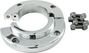"Split Swivel Floor Mount For 2"" Steering Column, Polished Aluminum"