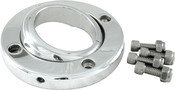 "Swivel Floor Mount For 1 1/2"" Steering Column, Polished Aluminum"