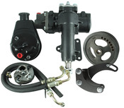 Power Steering Conversion Kit, 63-66 Corvette, SBC/SWP, Complete Kit