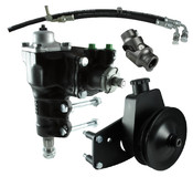 Power Steering Conversion Kit, 66-77 Ford Bronco with factory M/S and 289/302/351W, Complete Kit