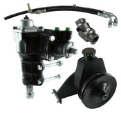 Power Steering Conversion Kit, 66-77 Ford Bronco with factory M/S and 170/200 In-Line 6, Complete Kit